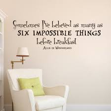 wall decals alice in wonderland quote decal mad hatter zoom
