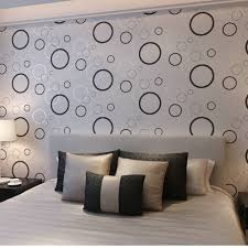 Wallpaper For Bedroom Walls Bedroom Wall Design With Circle Theme 4 Home Ideas