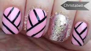 christabellnails geometric lines nail art tutorial youtube