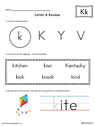letter k review worksheet color myteachingstation com