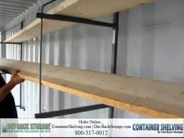 How To Hang Shelves by How To Install Shelves In A Shipping Container Youtube