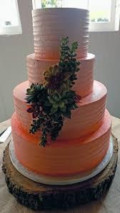 peach ombre wedding cake buttercream wedding cakes york pa buttercream wedding cakes
