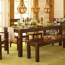 parsons wood dining table parsons 76 tobacco brown dining table dining sets dining bench
