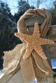 wedding decor starfish u0026 burlap chair decor