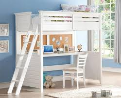 Study Bunk Bed Trixie White Size Study Loft Bed Fennessy Project