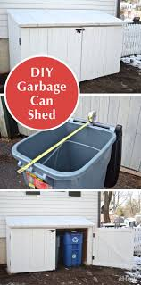 best 25 trash can ideas ideas on pinterest rustic kitchen trash garbage cans are ugly perched against the side of your home so why not build