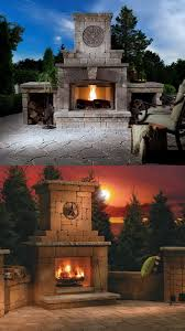 backyard fireplace home outdoor decoration