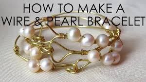 pearls bracelet diy images How to make a wire and pearl bracelet jpg