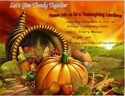 thanksgiving luncheon malaga county water district