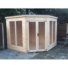 Garden Shed Summer House - 10x10 t u0026g corner summer house modern wooden garden shed log