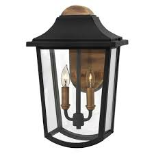 two light outdoor wall sconce burton black two light outdoor wall sconce hinkley wall mounted