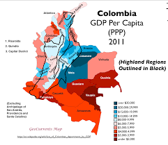 Map Of Colombia Oil Coal And Economic Development In Colombia Geocurrents