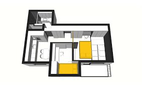 space efficient house plans 50 sq meter space saving apartment layout for young family
