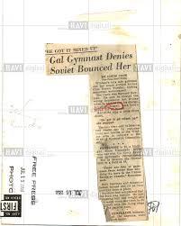 1958 press photo ernestine russell gymnastics olympics historic