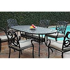 Aluminum Patio Dining Set Cbm Outdoor Cast Aluminum Patio Furniture 7 Pc Dining