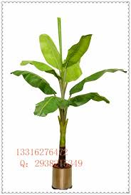 2m simulation potted banana trees artificial tree decorated