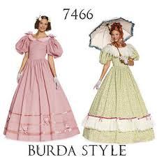 burda 7466 sewing pattern victorian dresses 1895 costumes women sz