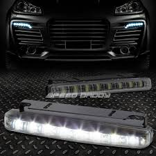 Led Fog Light Black Halo Projector Headlight Corner 8 Led Smoke Fog Light For 09