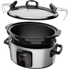 black friday slow cooker black decker wifi enabled 6 quart slow cooker only at walmart