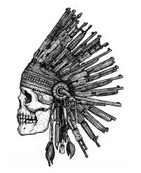 skull wearing indian headdress from various guns by dariusm1993 on