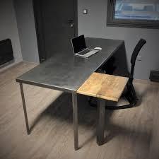 bureau metal bois bureau bois et mtal bureau bois noir table bureau pas cher bureau