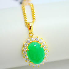 jade gold necklace images Wholesale inlaid jade pendant pendant pendant gold plated necklace jpg