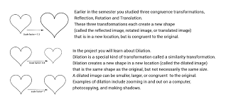 Reflections And Rotations Worksheet Dilation And Similarity Project Part One Geogebrabook