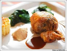 cuisiner caille recette gastronomique caille désossée farcie de chignons