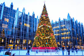 skating in downtown pittsburgh at the ppg ice rink