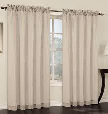 set of 2 faux linen sheer curtain panels 6 colors u2013 urbanest