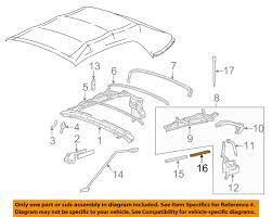 ford oem 99 04 mustang convertible top seal f7zz7654790aa ebay