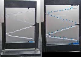 Motion Desk Italian Made Blue Lava Flow On Stair Step Design