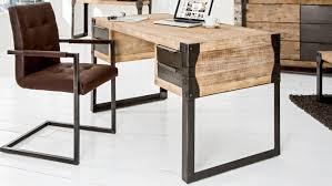 bureau industriel bois et metal bureau droit design industriel bois massif et métal jorg gdegdesign