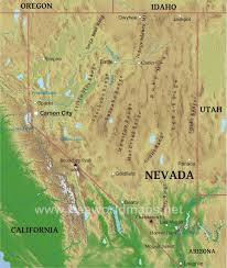 map of nevada physical map of nevada