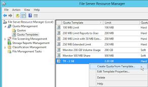 how to create a quota template in windows server 2012 techrepublic