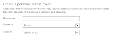 authenticate access personal access tokens microsoft docs