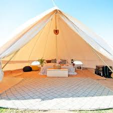 Bell Tent Awning Canvas Bell Tent 16 Ft Round Festival Tent Yurt Bohemian
