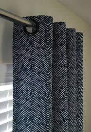 Grey Herringbone Curtains Navy And White Cameron Herringbone Curtains Grommet Top 63