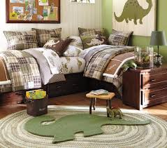Pottery Barn Kids Panels by Vintage Kids Room With Green Pottery Barn Kids Dino Shaped Wool