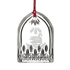 waterford crystal lismore seven swans a swimming ornament silver