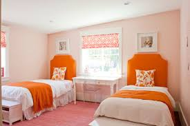Pink And Orange Curtains Curtain Home Design Orange Room Ideas Best Bedroomins Staggering
