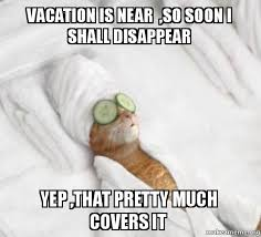 Meme Vacation - vacation is near so soon i shall disappear yep that pretty much