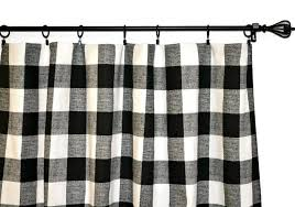 Black And White Checkered Curtains Collection In Black And White Gingham Curtains Decorating With