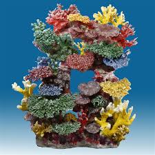 R044 Tall Reef Fish Tank Decoration for Saltwater Aquariums