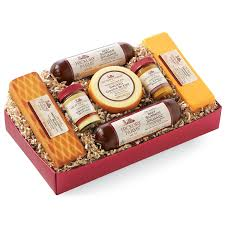 cheese gift box hickory farms summer sausage and cheese gift box