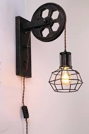 industrial wall sconce lighting fantastic plug in wall light best industrial wall sconces ideas on