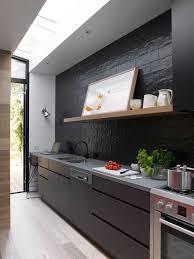 cuisine noir et gris cuisine noir et bois un agencement harmonieux