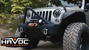 jeep stinger bumper havoc offroad gen 2 metal masher stubby front bumper with stinger