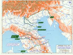 Northern United States Map by Map Of Allied Offensives In Northern Italy June December 1944