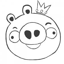 angry birds coloring pages king pigs coloringstar